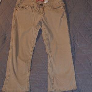 Union bay tan khaki capris, ankle length